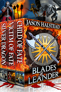 Blades of Leander trilogy, by Jason Halstead