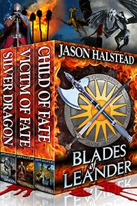 Blades of Leander trilogy, by Jason Halstead