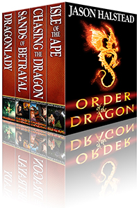 Order of the Dragon fantasy omnibus, by Jason Halstead