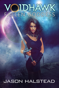 Fallen Goddess, book 8 in the Voidhawk series, by Jason Halstead